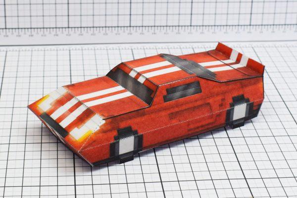 PTI Pixel Maximum Car Lord-GT Paper Toy Image Main