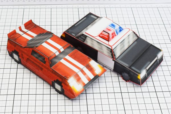 PTI Pixel Maximum Car Lord-GT Police Paper Toy Image Group