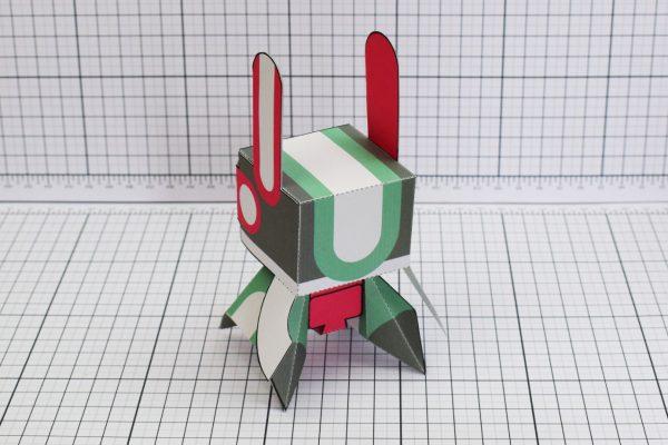 PTI Spark Plug Robot Paper Toy Image Back