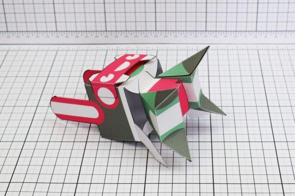 PTI Spark Plug Robot Paper Toy Image Bottom