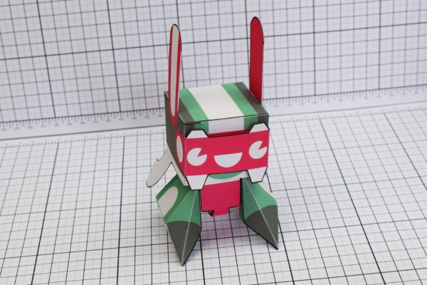 PTI Spark Plug Robot Paper Toy Image Front