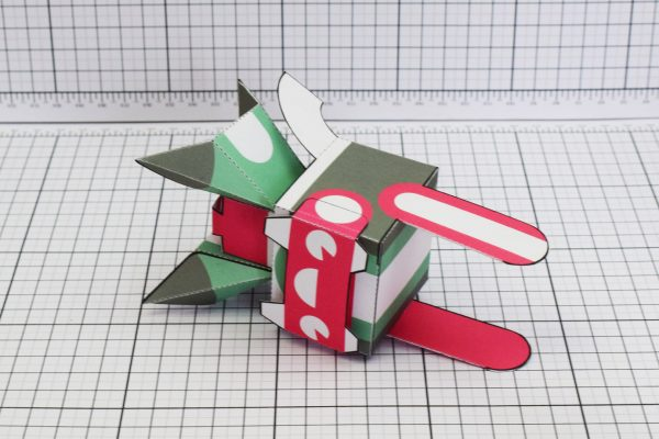 PTI Spark Plug Robot Paper Toy Image Top