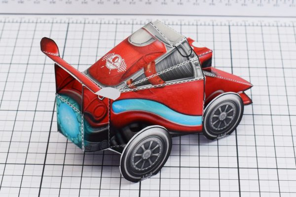 PTI UPC Robot Race Car Paper Toy Image Back