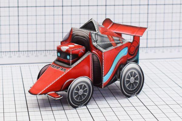 PTI UPC Robot Race Car Paper Toy Image Main