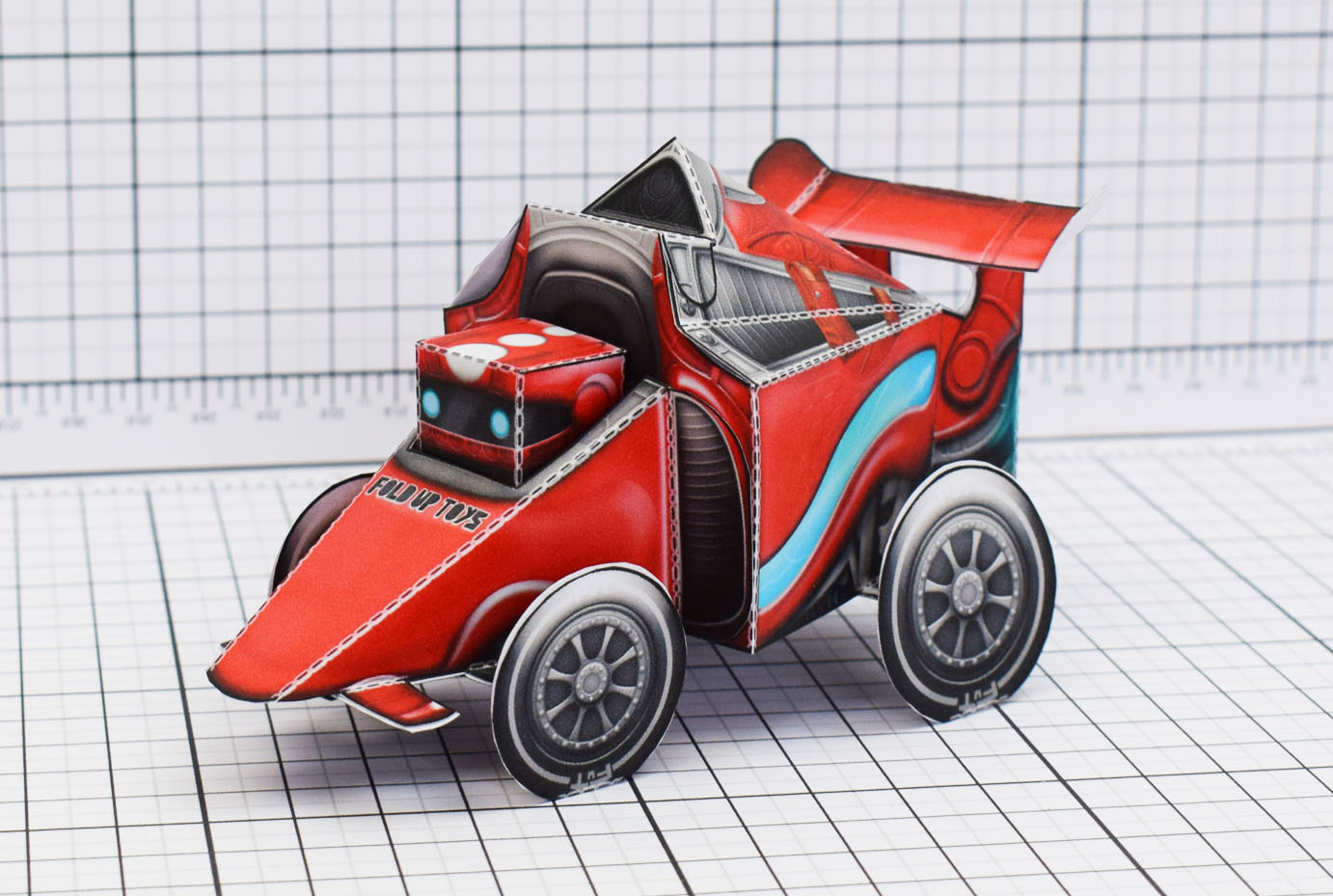 PTI UPC Robot Race Car Paper Toy Image Main