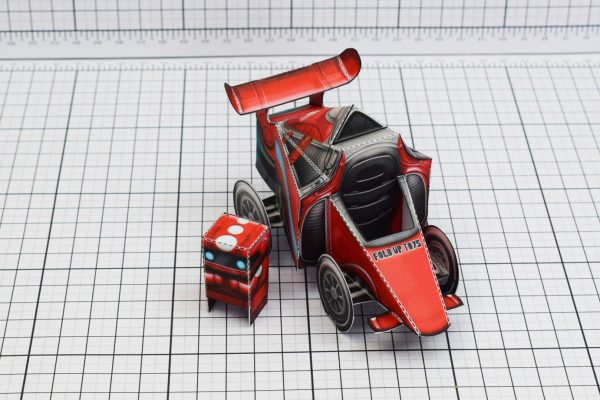PTI UPC Robot Race Car Paper Toy Image Out