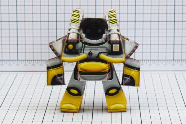 PTI Xplore Space Robot UPC Paper Toy Image Front