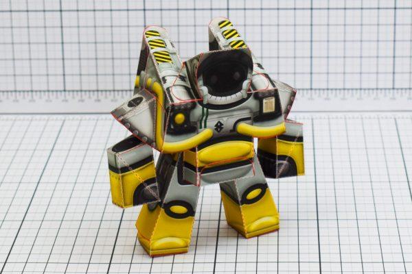 PTI Xplore Space Robot UPC Paper Toy Image Main