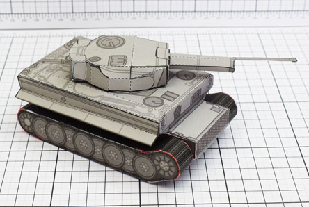 THU History Tank Tiger Abteilung Paper Toy Single Thumbnail