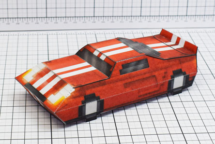 THU Pixel Maximum Car Lord-GT Paper Toy Single Thumbnail