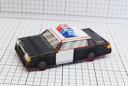THU Pixel Maximum Car Police Paper Toy Single Thumbnail