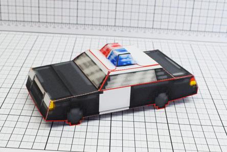 THU Pixel Maximum Car Police Paper Toy Single Thumbnail