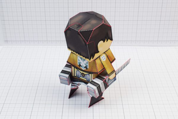 PTI Attack on Titan Cute Paper Toy Image Back