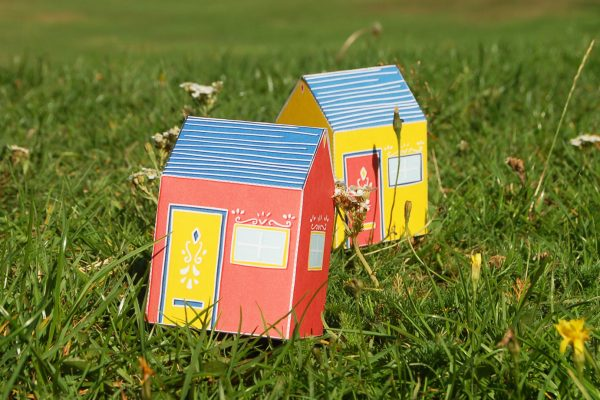 PTI Emma Fitz Collab House Paper Toy Image Grass
