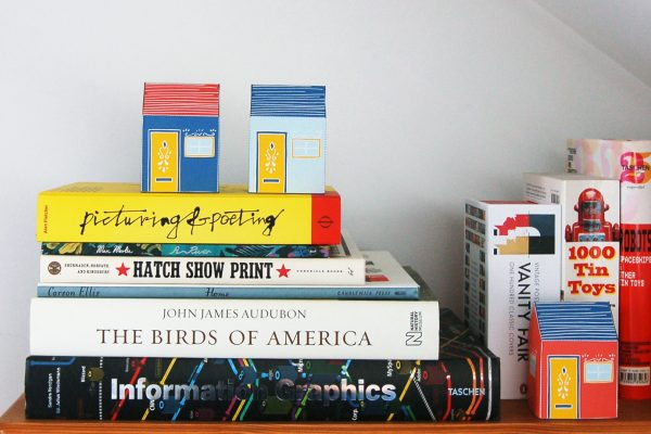PTI Emma Fitz Collab House Paper Toy Image Shelf