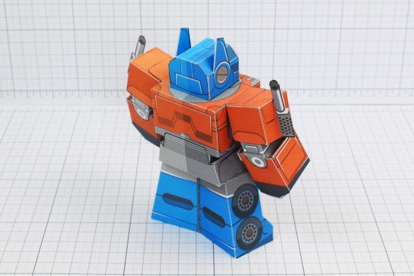 PTI Optimus Prime Transformers Urban Paper Toy Image Back