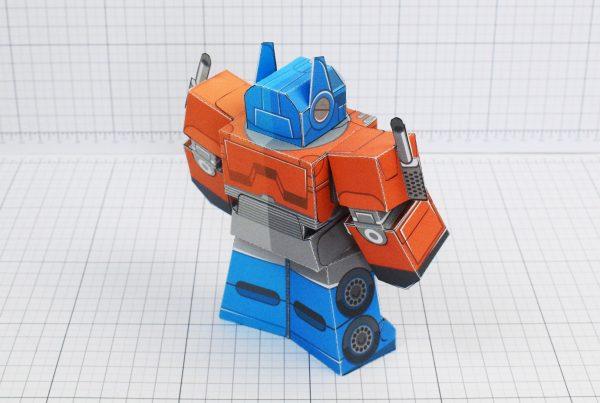 PTI Optimus Prime Transformers Urban Paper Toy Image Back