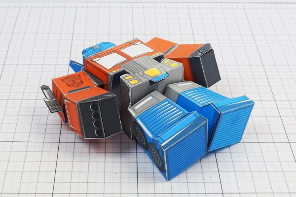 PTI Optimus Prime Transformers Urban Paper Toy Image Bottom