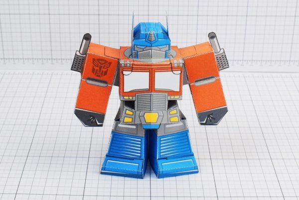PTI Optimus Prime Transformers Urban Paper Toy Image Front
