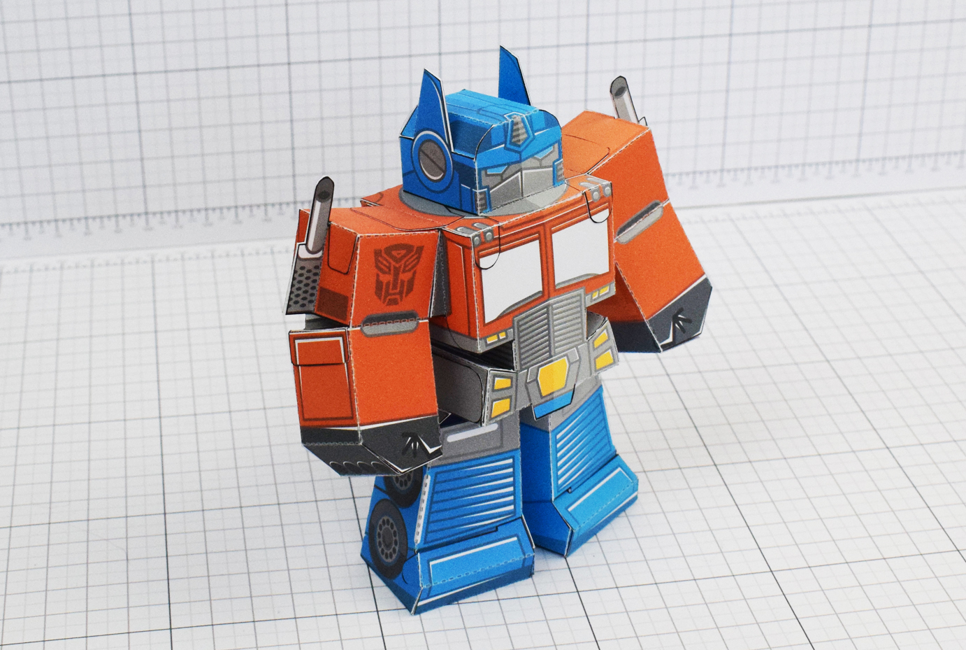 PTI Optimus Prime Transformers Urban Paper Toy Image Main 2