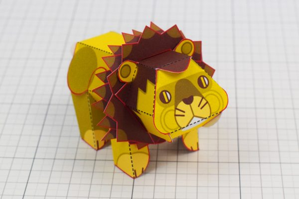 PTI Spike Lion Urban Paper Paper Toy Image Front
