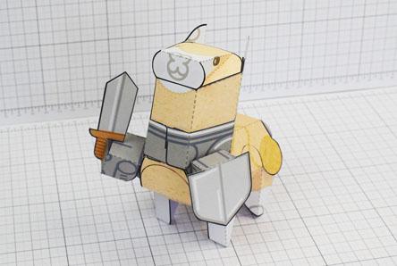 THU Atatcka Alapaca Cute Paper Toy Thumbnail