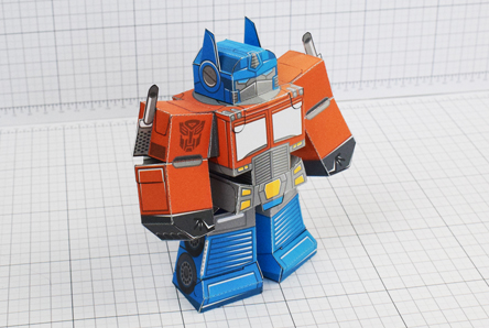 THU Optimus Prime Transformers Urban Paper Toy Thumbnail