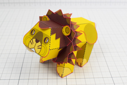 THU Spike Lion Urban Paper Paper Toy Thumbnail