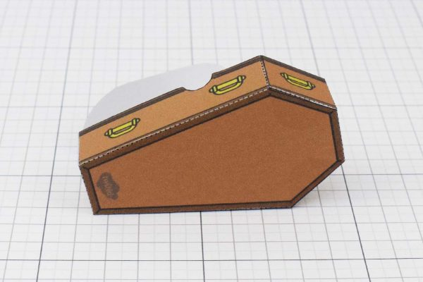 PTI Halloween Coffin Candy Holder Paper Toy Image - Back