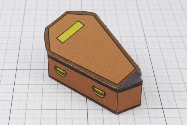 PTI Halloween Coffin Candy Holder Paper Toy Image - Bottom