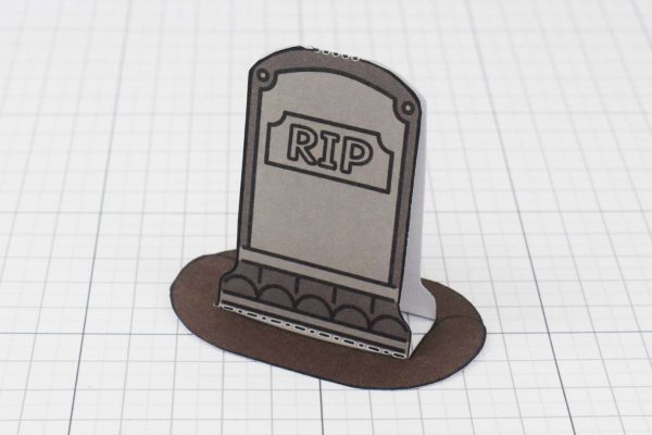 PTI Halloween Gravestones Paper Toy Twinkl - Stone A