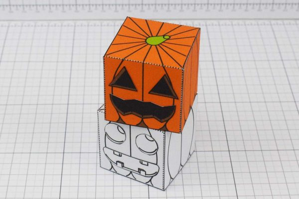 PTI Halloween Pumpkin Paper Toy Image - Stack