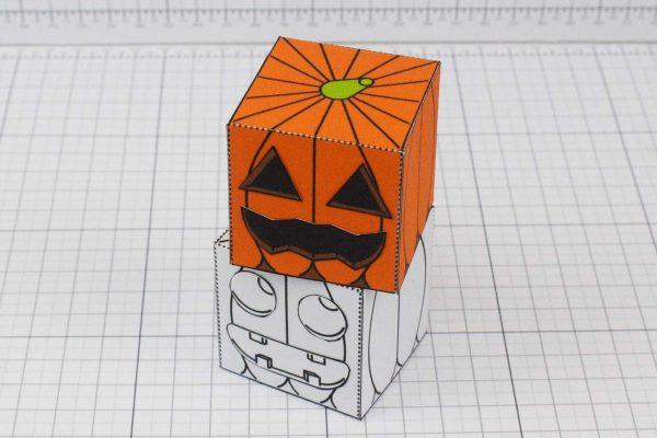 PTI Halloween Pumpkin Paper Toy Image - Stack