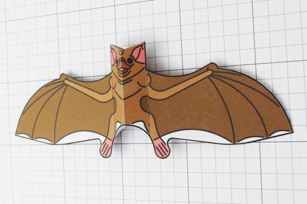 PTI Halloween Vampire Bat Paper Toy Image from Twinkl - Angle