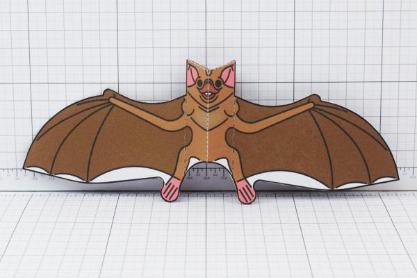 PTI Halloween Vampire Bat Paper Toy Image from Twinkl - Main