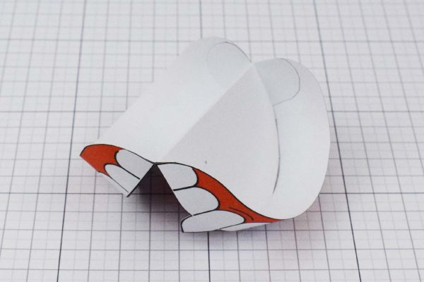 PTI Halloween Vampire Teeth Paper Toy Image from Twinkl - Back