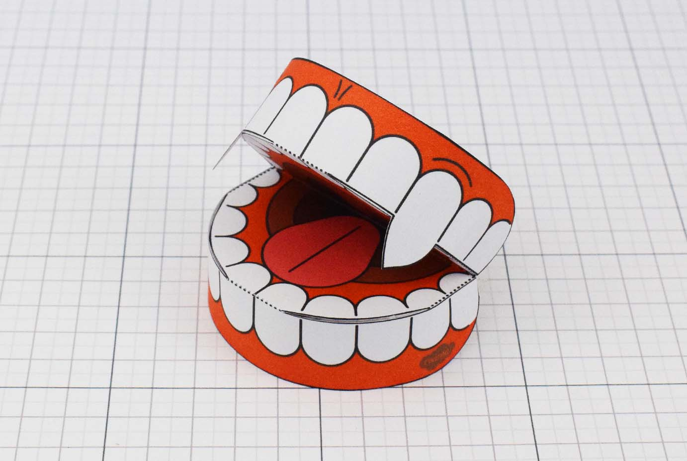 PTI Halloween Vampire Teeth Paper Toy Image from Twinkl - Main