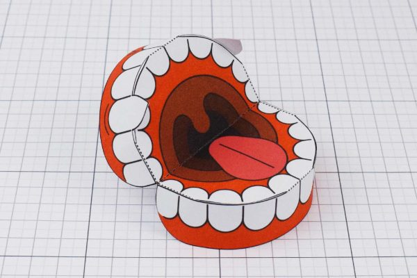 PTI Halloween Vampire Teeth Paper Toy Image from Twinkl - Open