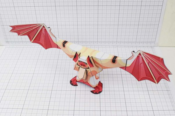 PTI Man Bat Halloween Paper Toy Image Angle