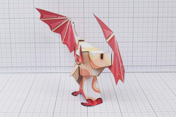 PTI Man Bat Halloween Paper Toy Image Side