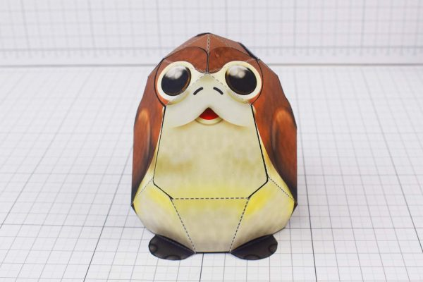 PTI Porg Star Wars Paper Toy Image - Front