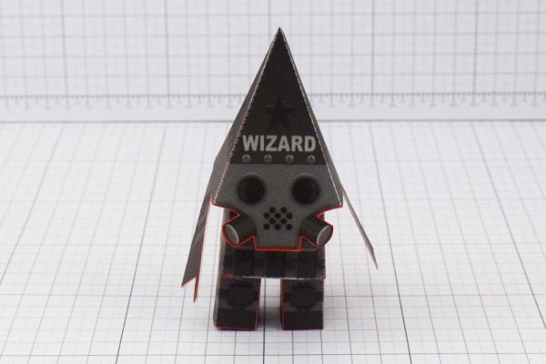 PTI Swat Wizard Robot Paper Toy Image - Front