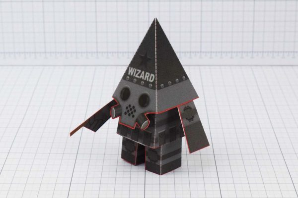 PTI Swat Wizard Robot Paper Toy Image - Side