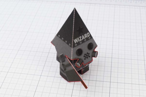 PTI Swat Wizard Robot Paper Toy Image - Top