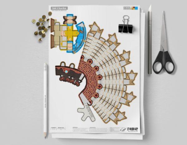 MU Zelda Breath of the Wild LinkGuardian Paper Toy Image - Mockup