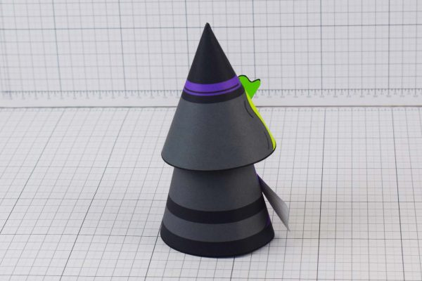 PTI Halloween Cone Witch Paper Toy Image from Twinkl - Back