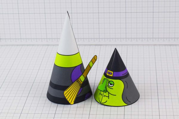PTI Halloween Cone Witch Paper Toy Image from Twinkl - Head Off