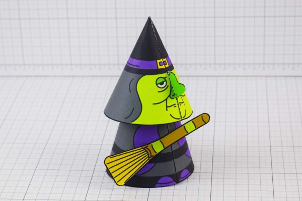 PTI Halloween Cone Witch Paper Toy Image from Twinkl - Main