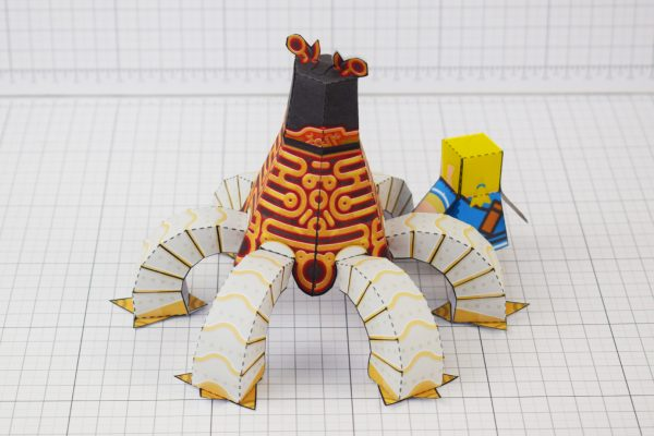 PTI Zelda Breath of the Wild LinkGuardian Paper Toy Image - Back