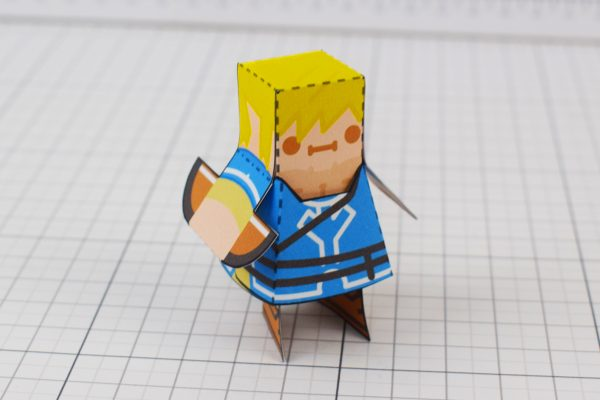 PTI Zelda Breath of the Wild LinkGuardian Paper Toy Image - Link
